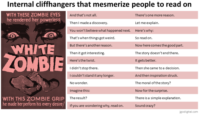blogging-cliffhangers